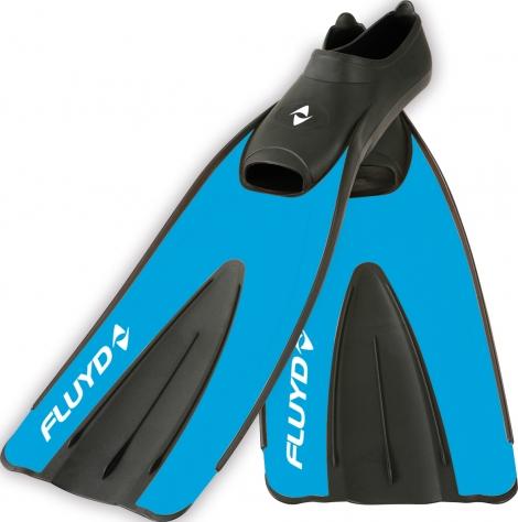 Ласты для снорклинга FLUYD Training Long синие