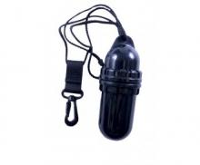 Водонепроницаемый пластиковый контейнер, черный 14х5 см