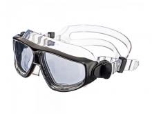 Плавательные очки-полумаска IST Argo, прозрачный силикон, зеркальные линзы