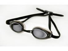 Очки для плавания Saeko Turbo с диоптриями черные.