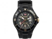 Часы водонепроницаемые Cressi TRAVELLER DUAL TIME, золотые вставки