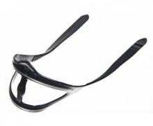 Ремешок Sargan для масок, универсальный тип 1.0, с перемычкой, черный силикон